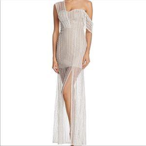 923 aqua zendaya sequin embroidered gown